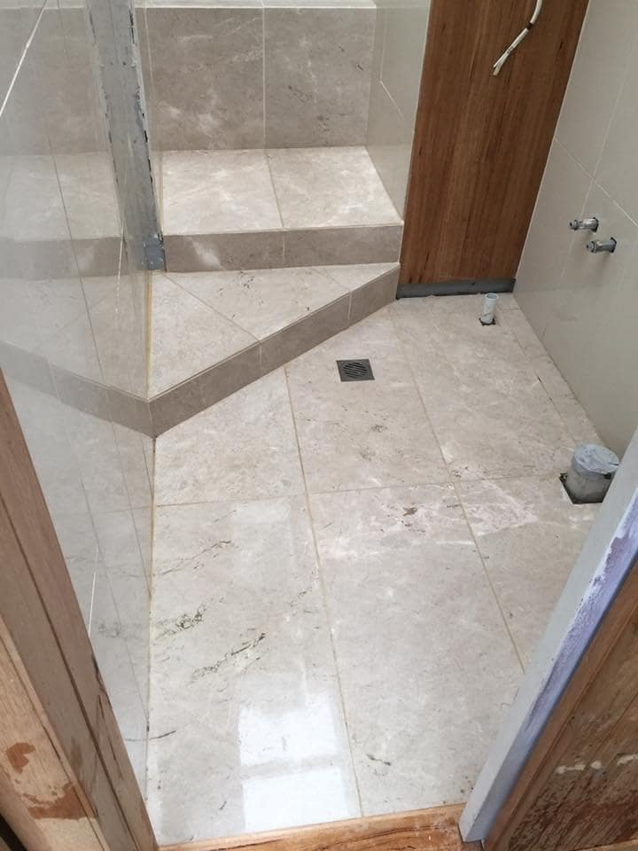 Blackheath bathroom in marble tiles